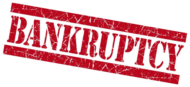 Bankruptcy grunge red stamp