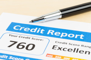 53116502 - credit score report with pen